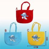smurfs anime bag
