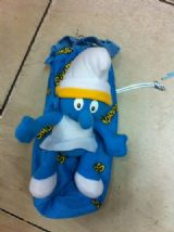 smurfs anime plush bag