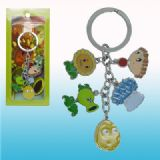 plants vs zombies anime keychain