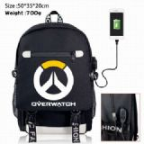 Overwatch Canvas Data line Backpack Bag