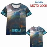 Godzilla Full color printed short sleeve t-shirt