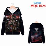 Overiord Full color zipper hooded Patch pocket Coa