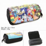 Sonic the Hedgehog Series Double zipper PU pencil