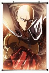 One Punch Man Plastic pole cloth painting Wall Scr
