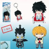 death note anime rubber keychain