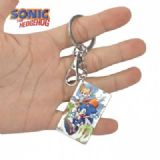 Sonic The Heogehog-3 Anime Acrylic Color Map Keych