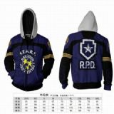 Resident Evil Anime around Hoodie zipper sweater c