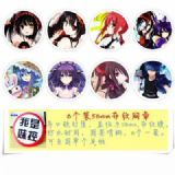Date A Live Brooch Price For 8 Pcs A Set 58MM