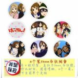K-ON! Brooch Price For 8 Pcs A Set 58MM