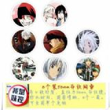 D.Gray-Man Brooch Price For 8 Pcs A Set 58MM