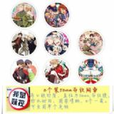 Hetalia-2 Brooch Price For 8 Pcs A Set 58MM