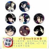 Kuroshitsuji-1 Brooch Price For 8 Pcs A Set 58MM