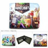 Minecraft Short color picture two fold wallet