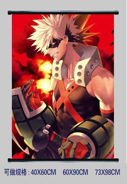 my hero academia anime wallscroll