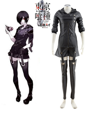 Tokyo Ghoul Touka Kirishima Ghouls Fighting Uniform Anime Cosplay Costume XXS XS S M L XL XXL XXXL 7 days prepare