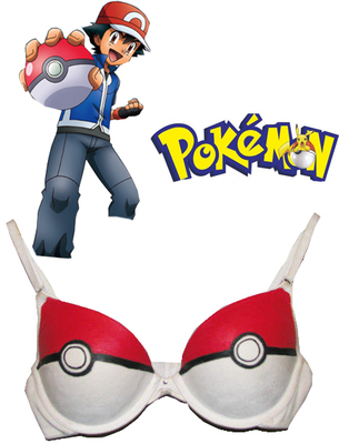 Pocket Monster Ash Ketchum Poke Ball Anime Underwear Cosplay Costume