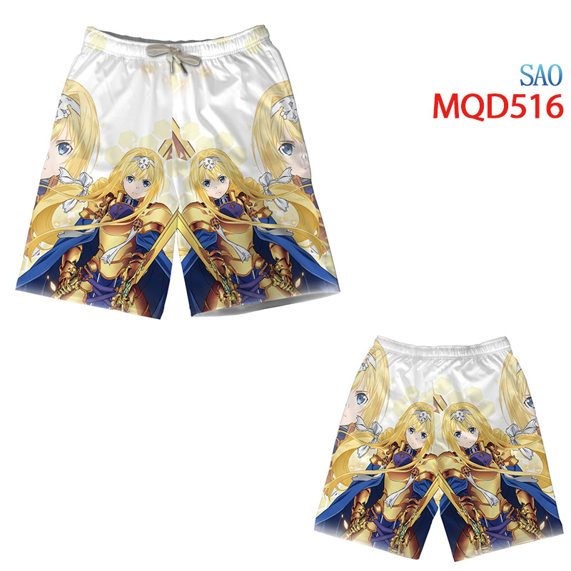 sword art online anime shorts M to 3XL