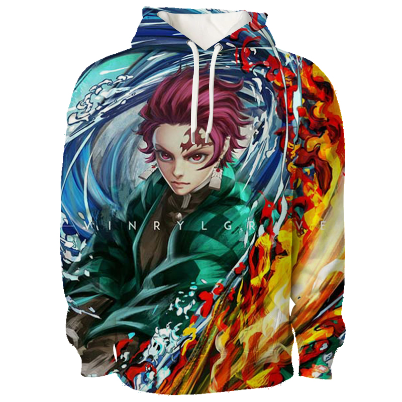 demon slayer anime 3d printed hoodie