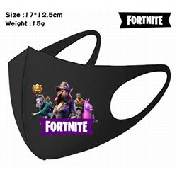 Fortnite-9A Black Anime color printing windproof dustproof breathable mask price for 5 pcs