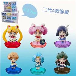 SailorMoon a set of six Boxed Figure Decoration Model 4.5-5CM Style A