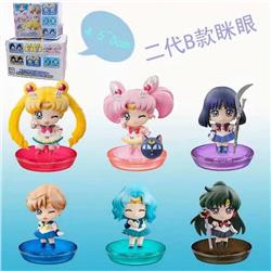SailorMoon a set of six Boxed Figure Decoration Model 4.5-5CM Style B