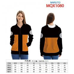 Naruto Full color zipper hooded Patch pocket Coat Hoodie 9 sizes from XXS to 4XL MQX1080