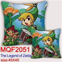 The Legend of Zelda Double-sided full color pillow dragon ball 45X45CM MQF 2051