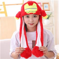Hat Iron man Cartoon anime Rabbit ear hat Pinching the ear will move Non-illuminated version price for 3 pcs