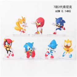 Sonic the Hedgehog Series a set of seven Bagged Figure Decoration Model 6CM 0.14KG