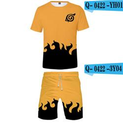naruto anime 3D tshirt shorts sets 2xs to 4xl