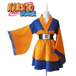 Naruto Uzumaki Naruto Child Lolita Kimono Dress Anime Cosplay Costume XXS XS S M L XL XXL XXXL 7 days prepare