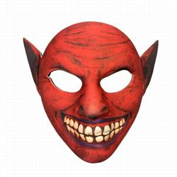 Red Halloween Horror Funny Mask Props 22X20.5CM 35G a set price for 5 pcs