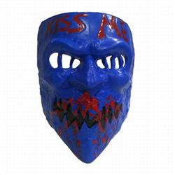 The Purge: Election Year Navy blue Kiss Me Cos Halloween Horror Funny Mask Props 60G 22.5X16.5CM a set price for 5 pcs