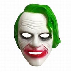 The Dark Knight Mask Green Halloween Mask Prom Props 80G 26X21CM a set price for 5 pcs
