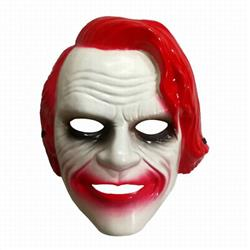 The Dark Knight Mask Red Halloween Mask Prom Props 80G 26X21CM a set price for 5 pcs