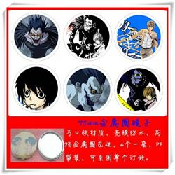 Death Note Mirror 75mm 6 pcs