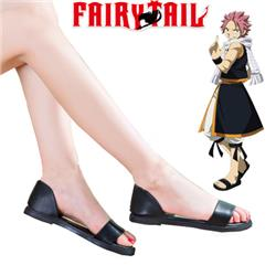 Fairy Tail Dragon Slayers Natsu Dragneel Female Black Sandals Anime Cosplay Shoes 35-40 yards