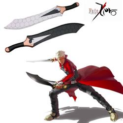 Fate stay night Unlimited Blade Works Archer Gan Jiang and Mo Ye Anime Cosplay Wooden Weapon 75cm