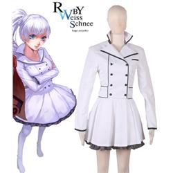 RWBY Season 2 White Weiss Schnee Lolita Dress Anime Cosplay Costume XXS XS S M L XL XXL XXXL 7 days prepare
