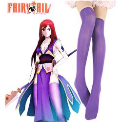 Fairy Tail Titania Erza Scarlet Forever Empress Armor Stockings Cosplay Accessories 55cm