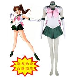 Sailor Moon Sailor Jupiter Kino Makoto Fighting Uniform Cosplay Costume XXS XS S M L XL XXL XXXL 7 days prepare