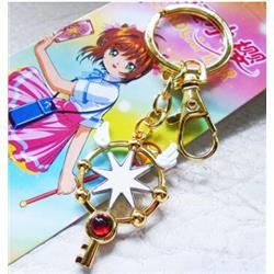 card captor sakura anime keychain