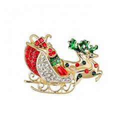 Christmas series Christmas car Badge badge brooch 4.9X3.7CM 19G price for 6 pcs
