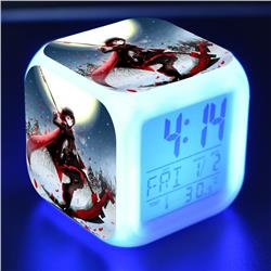 rwby anime led clock