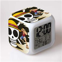 one piece anime led clock
