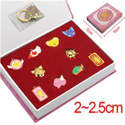 card captor sakura anime pin set