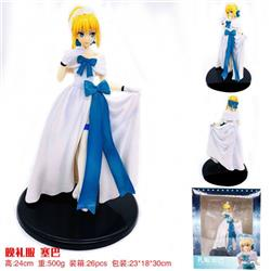 Fate Stay Night Saber Beautiful girl Boxed Figure Decoration Model 24CM 500G 23X18X30CM