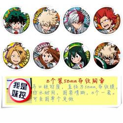 My Hero Academia Brooch pin Price For 8 Pcs A Set 58MM Style-B