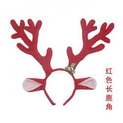 Christmas Cosplay tool Red antler headband headdress 24CM price for 5 pcs