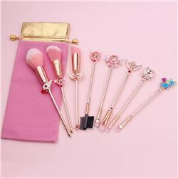Card Captor Sakura Rose gold makeup brush a set of eight Cloth bag 15.5-19.5CM price for 2 set